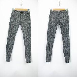 🌺H&M  Green Print Skinny Pants